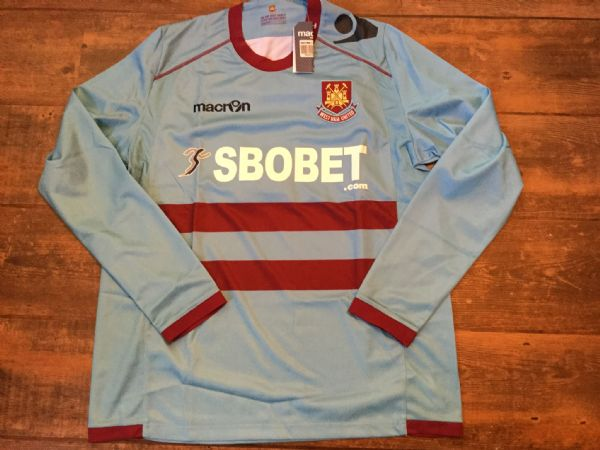 2011 2012 West Ham BNWT New L/s Away Football Shirt Adults Large